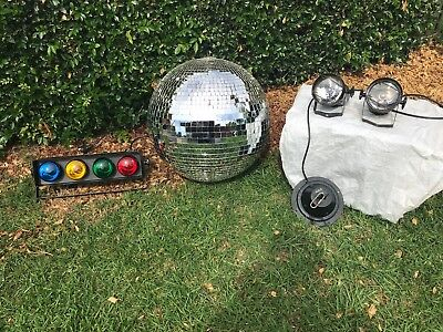 Large commercial Disco Mirror ball with DJ spot lights