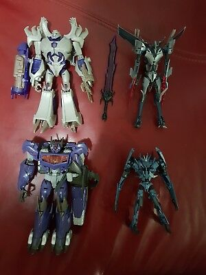 Transformers Prime Megatron Decepticons with Extras LOT PRE-OWNED