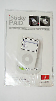 iSticky PAD - Holds SMARTPHONES iPods, Sunglasses, Coins & more WHITE NIP