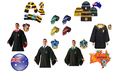 Harry Potte Gryffindor Slytherin Hufflepuff Adult Cosplay Robe Tie Scarf Costume