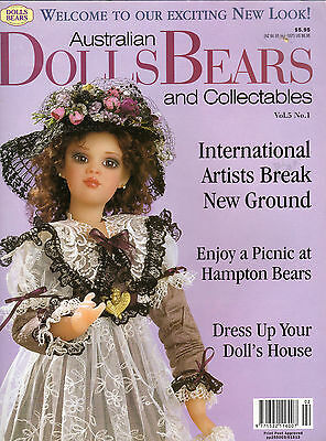 Australian Dolls Bears & Collectables Vol 5 #1 Issue 25 1998 Patterns included