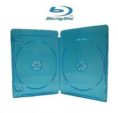Holds 2 Blu Ray Cover / Case 14mm,  BluRay Disc, with Clear plastic on fron