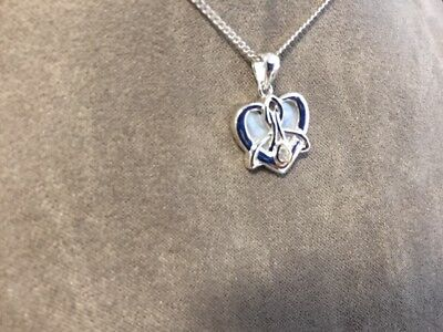 NEW Clogau Silver & Rose Gold Rose Dwynwen Mother of Pearl Pendant £40 off!