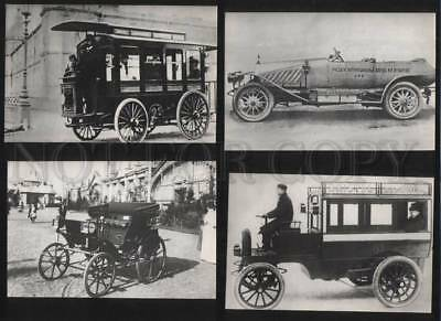070931 Vintage CAR Collection of 12  photo russian postcard