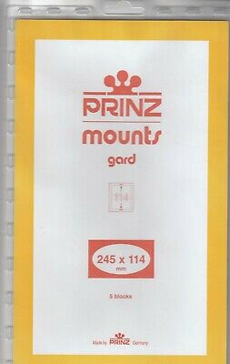 Prinz Stamp Mounts 245x114 Black Back Canada leaders New Pack Of 5 High Quality