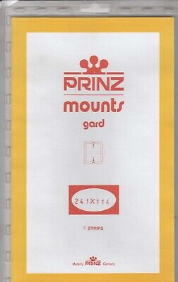 Prinz Stamp Mounts 241x114 Black Back Canada Leaders Scott New Pack Of 5
