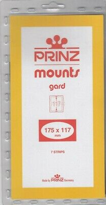 Prinz Stamp Mounts 175x117 Black Back For Pacific 97 New Pack Of 7 Scott Strips