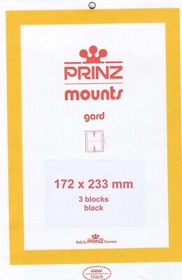 Prinz Stamp Mounts 172x233 Black Background For Sonoran Desert Pack Of 3 Scott