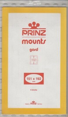Prinz Black Stamp Mounts 151x192 For Olympics New Pack Of 5 Blocks Scott