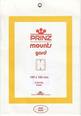 Prinz Black Stamp Mounts150x185 For Dr. Davis New Pack Of 5 Blocks Scott