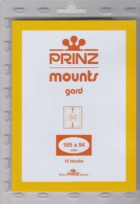 Prinz Black Stamp Mounts 165x94 For US First Day Covers #6 FDC 11 Scott Blocks