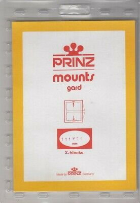 Prinz Black Stamp Mounts 111x25 For Coil Strips of 5 New Pack Of 25 Blocks Scott