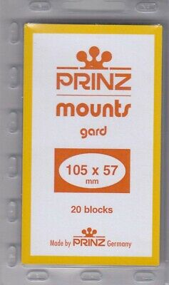 Prinz Black Stamp Mounts 105x57 Giori Press Commemorative Plate Block 20 Scott