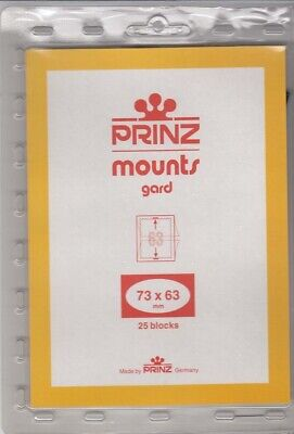Prinz Black Stamp Mounts 73x63 mm Champions of Liberty 25 Blocks Scott New Pack