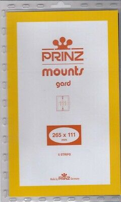 Prinz Black Stamp Mount Strips 265x111 mm For Floating Plate Number Strips Scott