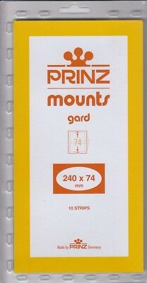 Prinz Black Stamp Mount Strips 240x74 mm For UN Inscription Blocks 10 Pack Scott