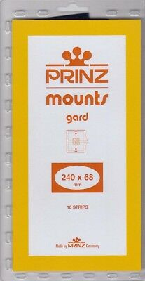 Prinz Stamp Mount Strips 240x68 mm For US Semi Jumbo Blocks Pack Of 10 Scott