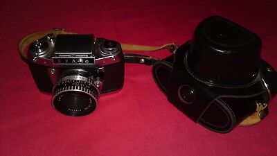 Exa 1 A Camera With Lens Tessar 2,8/50 With Jumping Bendand
