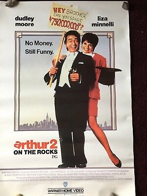 ARTHUR 2 -ON THE ROCKS ORIGINAL 1988 Movie poster Dudley Moore Liza Minnelli