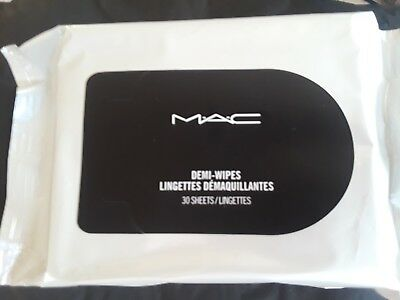 MAC Demi-Wipes Make Up Remover Cleansing Towelettes - 30 Sheets - NEW