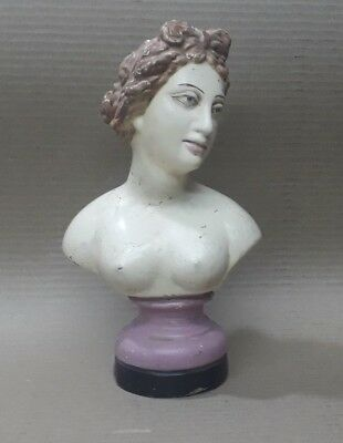Antique Old Terracotta Clay Made Women Lady Bust Figure Statue Nude Sculpture