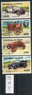 266030 NIGER 1984 year used stamps set CARS
