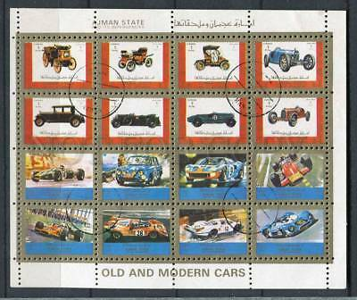 266143 AJMAN 1972 year used stamps set Small S/S SPORT CARS