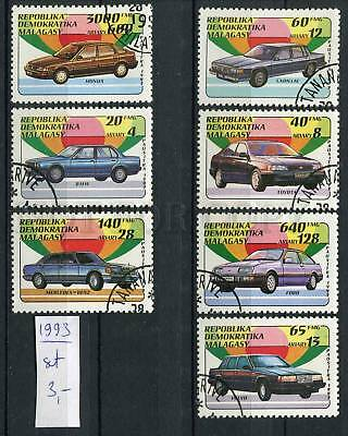 266137 MADAGASKAR 1993 year used stamps set CARS