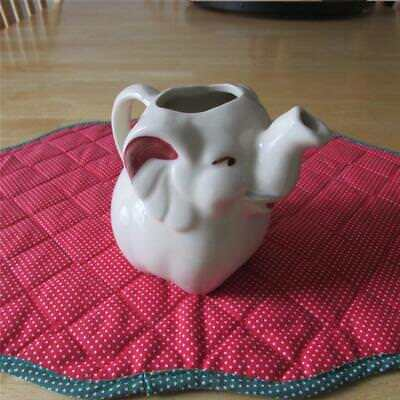 Excellent Vintage 1940's Shawnee Pottery Elephant Creamer Patented USA