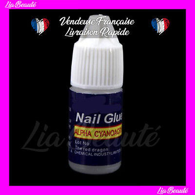 Lot 5 Colle Capsules Tips 3 Gr Pour Extension Ongles Decoration Nail Art #15