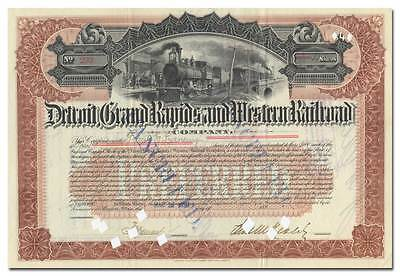 Detroit, Grand Rapids and Western Railroad Company Stock Certificate