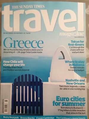 The Sunday Times - Travel Magazine - Issue 173 - June 18' - Brand New
