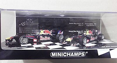 2010 Minichamps 1:43 Scale ~ 2 Red Bull Rb6 Models~ Vettel & Webber~Original Box