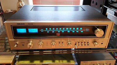 Nikko 7075 vintage receiver 70s near mint condition chinch version full working