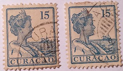 Curacao   Scott#63 15C  Used Stamp ......worldwide Stamps