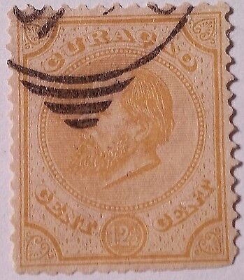 Curacao   Scott#8  Used Stamp ......worldwide Stamps