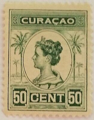 Curacao 50 Cents  Used Stamp/thin  ...worldwide Stamps