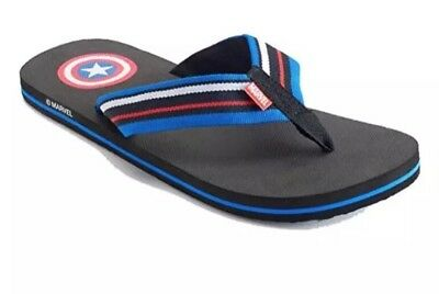 a20a3f1ce1b6 Men s Captain America Flip Flops Size X-Large XL 12- 13 NEW Thongs Marvel