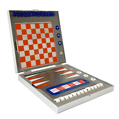 Classic 7in1 Travel Magnetic Backgammon/Checkers/Tic Tac Toe/Chess Board Games