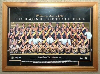 Richmond Football Club Millennium Season 2000 Team Photo Frame 75x55cm