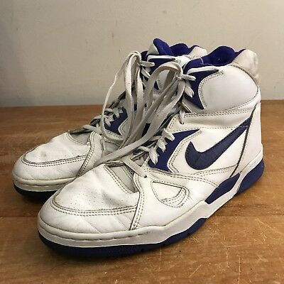 sports shoes cab66 b1542 Nike Air Strike Force David Robinson Mens 12 WhitePurple Leather High Top  Shoes