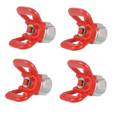 4PCS Airless Paint Spray Gun Accessory Flat Tip Nozzle Guard Seat Sprayer T8E8
