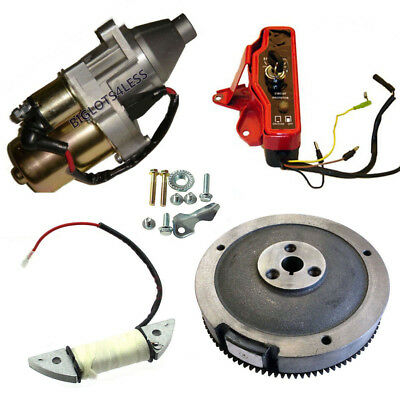 Electric Start Kit Starter Motor Ignition Switch Honda Gx160 Gx200 5.5Hp 6.5Hp