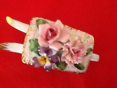 Gorgeous Wheelbarrow Of Flowers - Made In Japan- Mint Condition/ SALE ON