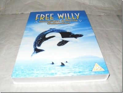 FREE WILLY COLLECTION 1-4 WITH SLIPCASE dvd UK RELEASE NEW SEALED