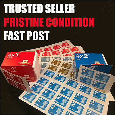 1st 2nd Class LARGE Postage Stamps PRISTINE CONDITION First Second V.QUICK POST