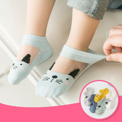 5 Pairs Baby Boy Girl Cartoon Cotton Ankles Socks Newborn Infant Toddler Soft