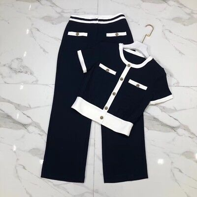 2018 Womens Designer Inspired Luxury  Top  + Trousers  2 Pieces  UK 4-10