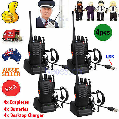 4pcs Baofeng Pofung BF-888S Two Way Ham Radio UHF 400-470MHZ Walkie Talkie 16CH