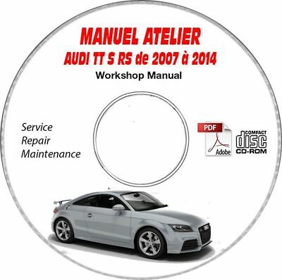 TT S RS 07-14 Manuel Atelier CDROM AUDI Anglais Expédition - Inclus, Support -